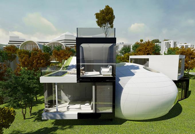 соверменная архитектура Cocoon House фото 1 (680x468, 154Kb)