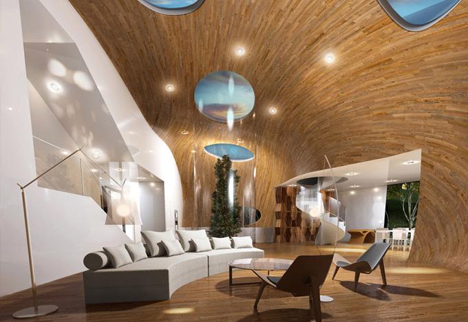 соверменная архитектура Cocoon House фото 5 (680x468, 144Kb)