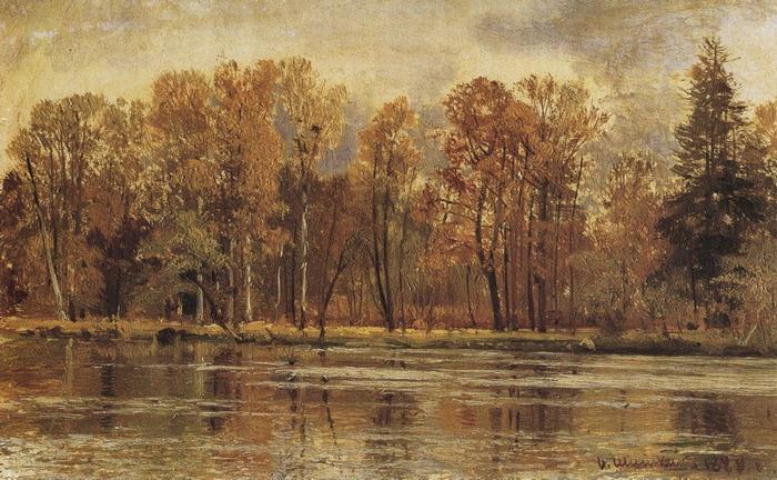 Золотая осень 1888,Шишкин (700x432, 144Kb)