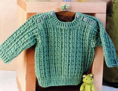 Дневник.  Детский пуловер крючком.