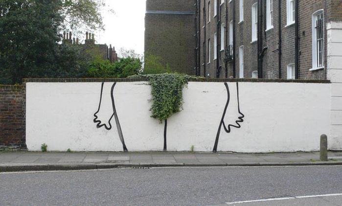 «Я ненавижу эту стену» | Работы Бэнкси на стенах улиц