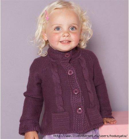 Детская кофточка. Вязание.
