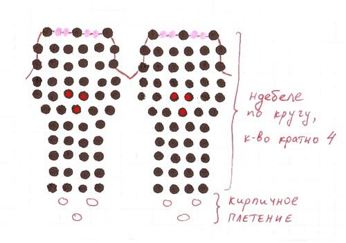 мак заколка схема (500x351, 42Kb)
