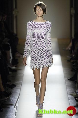 Вязаные платья с подиума