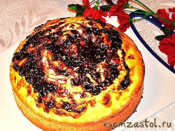 Пирог из кефира и варенья рецепт с
