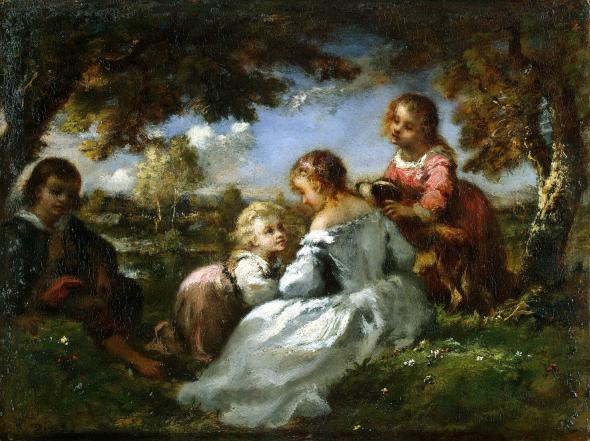 Эрмитаж :: Diaz de la Pena Narcisse - Children in a Garden - GJ-3858.