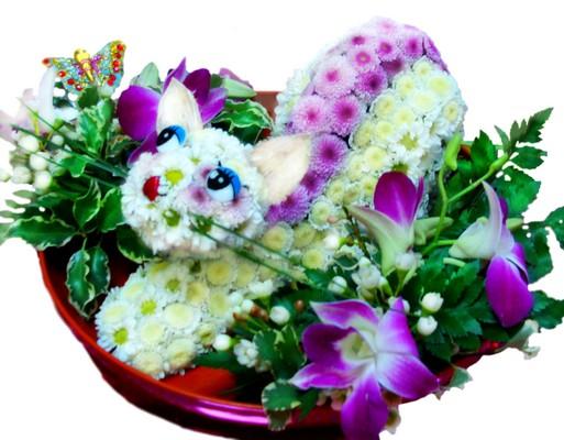 фигурки из цветов фото: