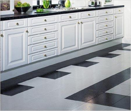 Дизайн кухни плитка на пол