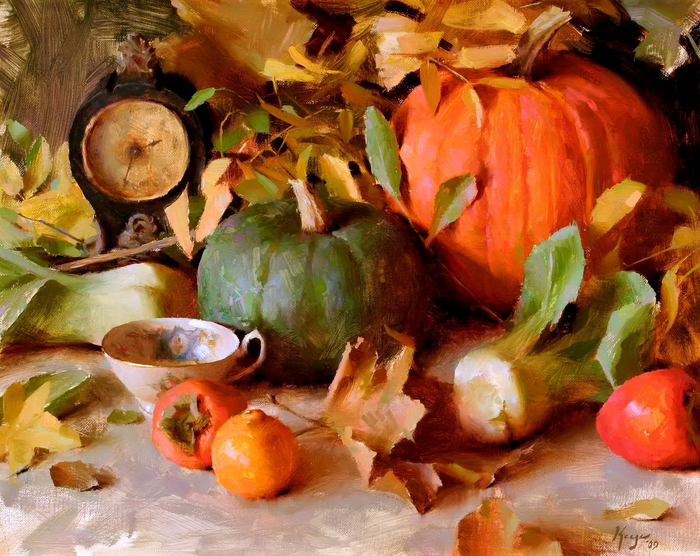 keysd0_00013_antiqueclockwithpumpkins (700x556, 536Kb)