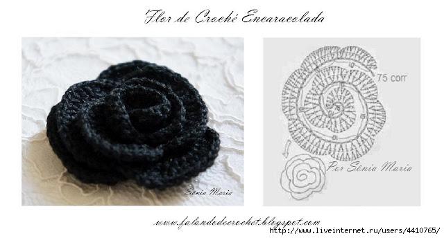 FLOR DE CROCHE ENCARACOLADA COM GRAFICO A (640x344, 105Kb)