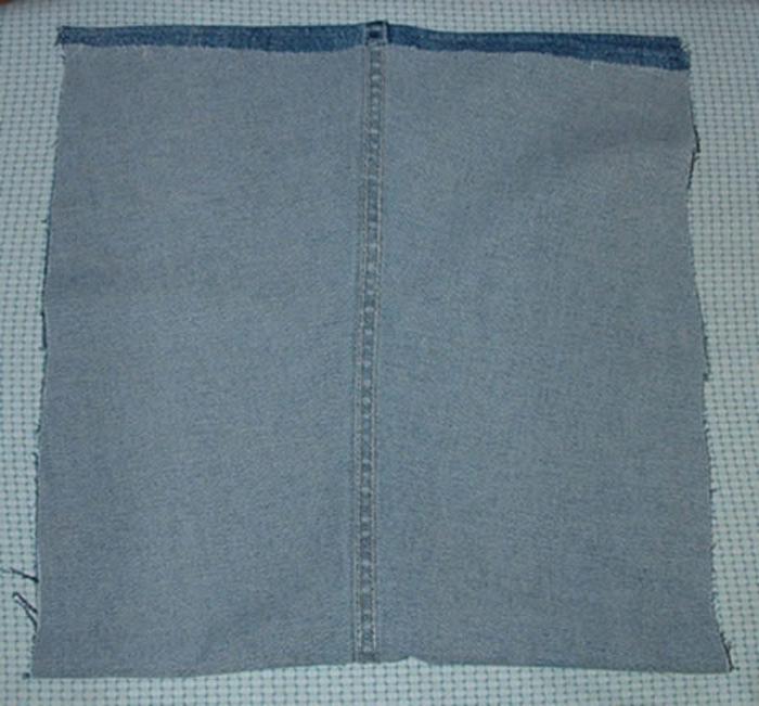 Сшить сумку из старых джинсов