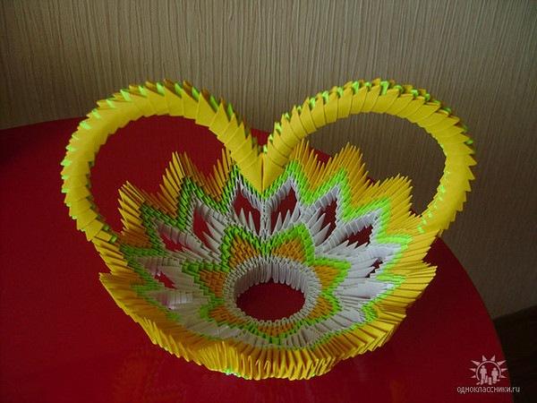 вазы оригами схемы