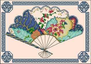 """Схема вышивки  """"Восток """": таблица цветов."""