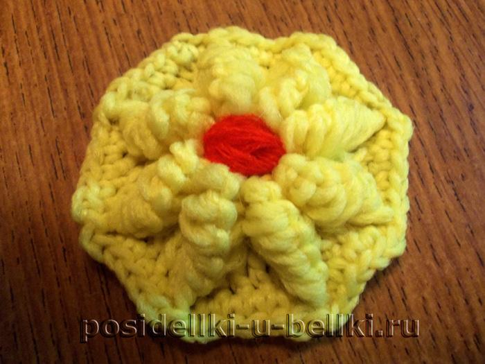 Как связать цветок крючком ... принцип вязания крючком по .
