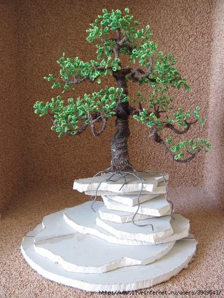 гипсокартон для основы дерева бонсай.