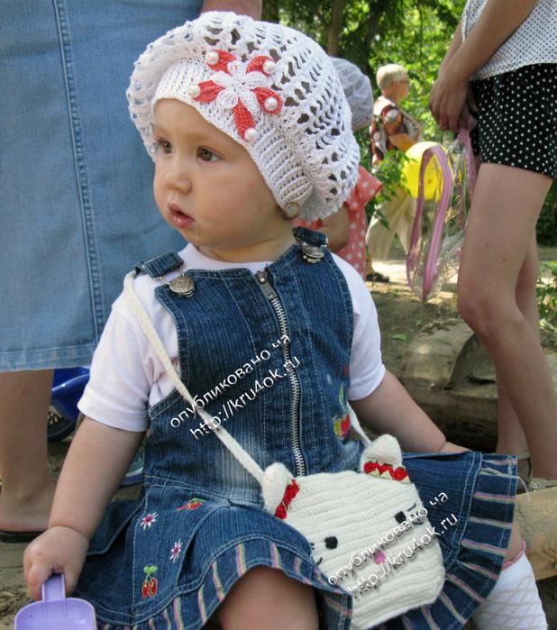 Вязания детский летний берет