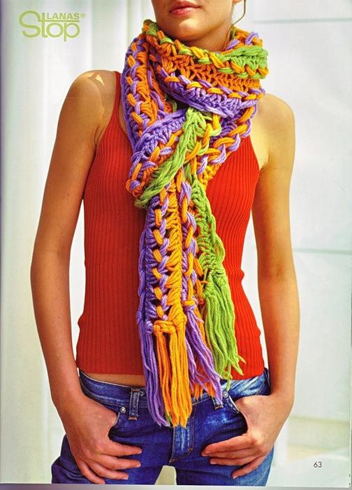 Радужный шарф 9