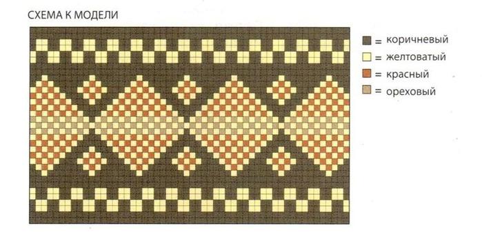 МАТЕРИАЛЫ.  600 грамм пряжи Loden производства Grignasco Knits коричневый цвет 589, вязать в две нити...
