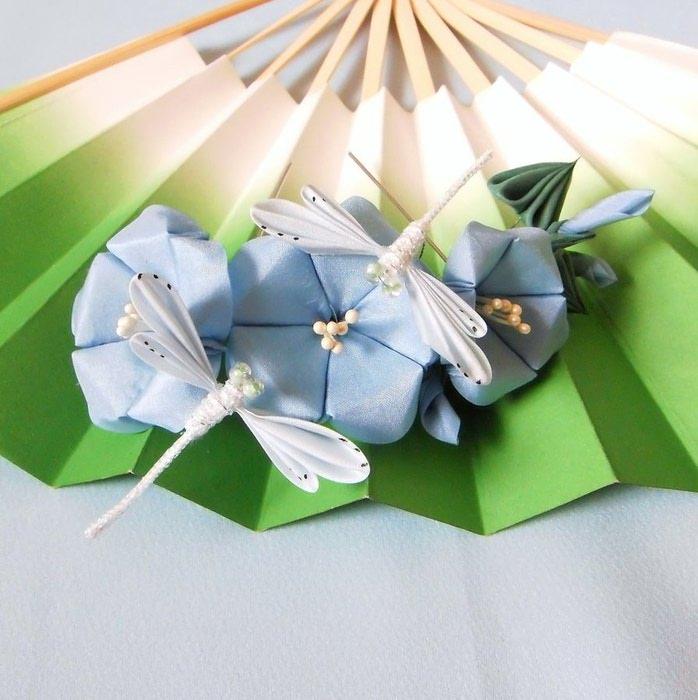 asagao__n__dragonflies_kanzashi_by_elblack-d3chqbb (698x700, 78Kb)
