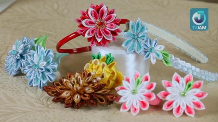 Цветы канзаши своими руками фото