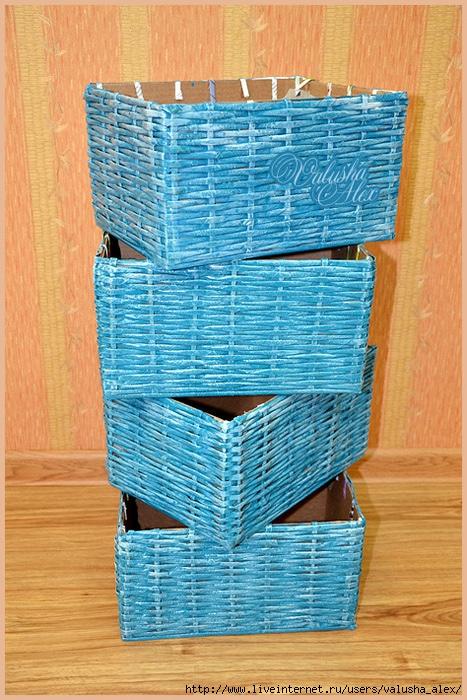 Плетеные коробки своими руками