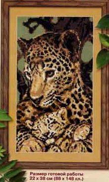 """Вышивка  """"Леопарды """" ."""