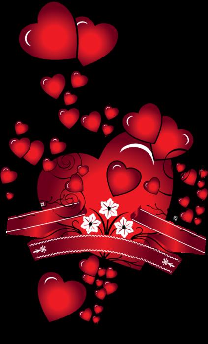сердечки много (423x700, 213Kb)
