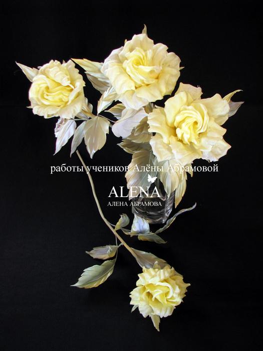 Цветы из шелка японская техника мастер класс