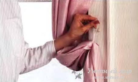 Как прикрепить подхват для штор к стене своими руками 74
