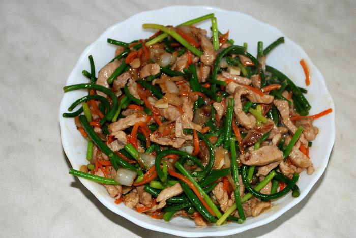 Китайские рецепт стрелки чеснок