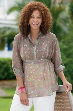 Фото фасон блузок на полных женщин
