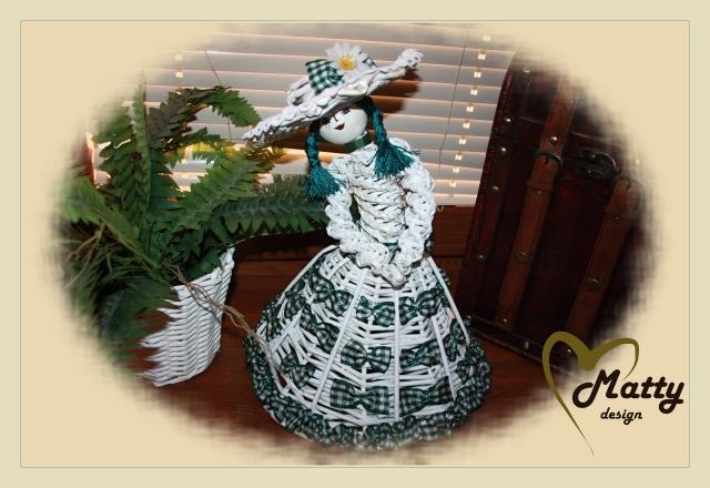 Кукла из газетных трубочек (11)