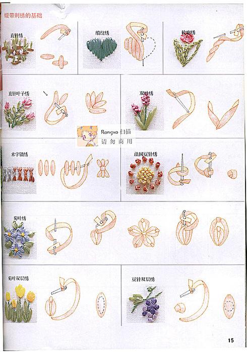Схемы картины из лент своими руками