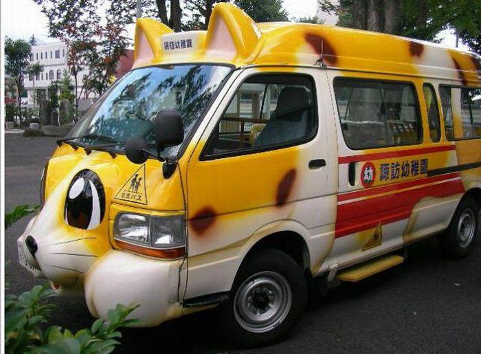 японский школьный автобус фото (700x515, 97Kb)