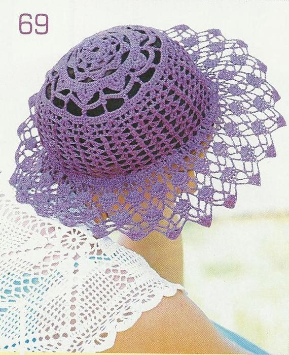 18 апреля 2012.  Sofija.  Шляпа с ажурными широкими полями.  2. Модель выполнена крючком.Описание.