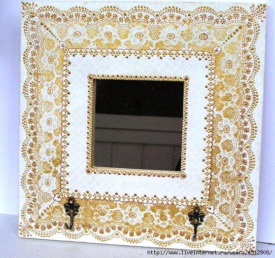 Зеркало белое+золото (542x509, 314Kb)