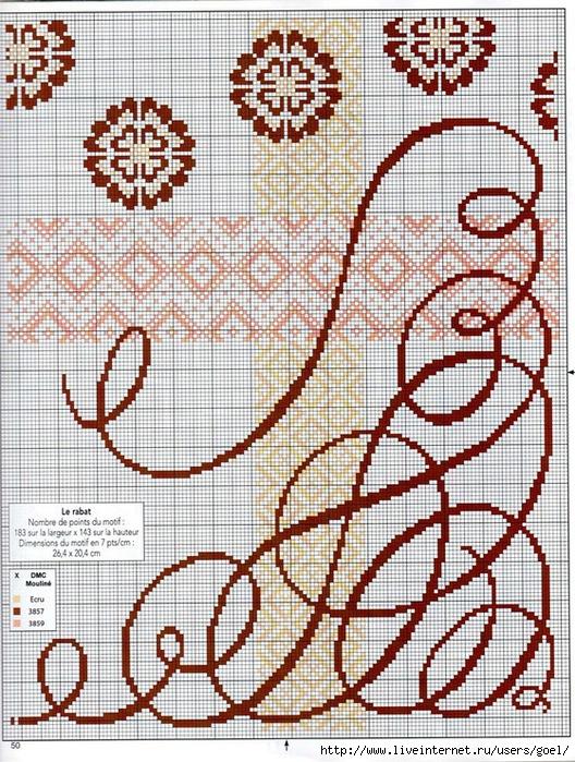 Схема вышивки завитушки