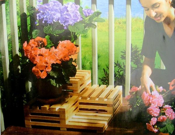 Подставки для цветов для дачи своими руками фото
