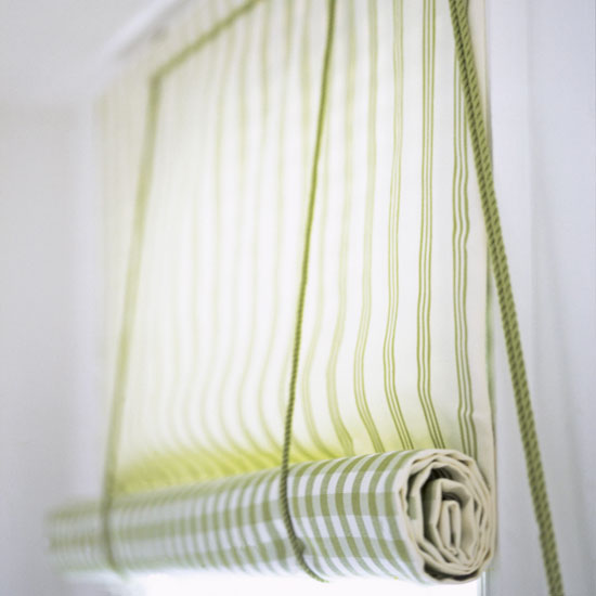 Make a roll-up blind.