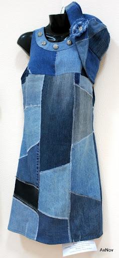 Туника из старых джинсов своими руками