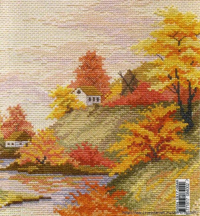 Вышивка крестом схемы осенних пейзажей