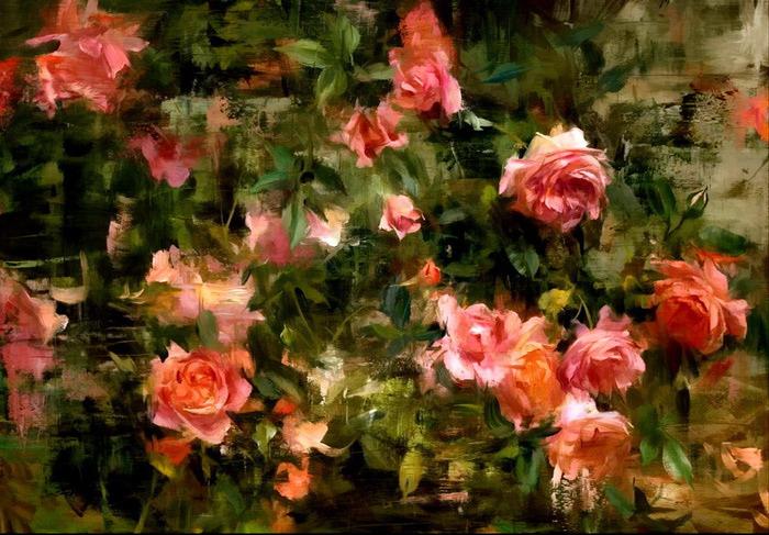 climbing roses, 24x30, sold (700x487, 152Kb)