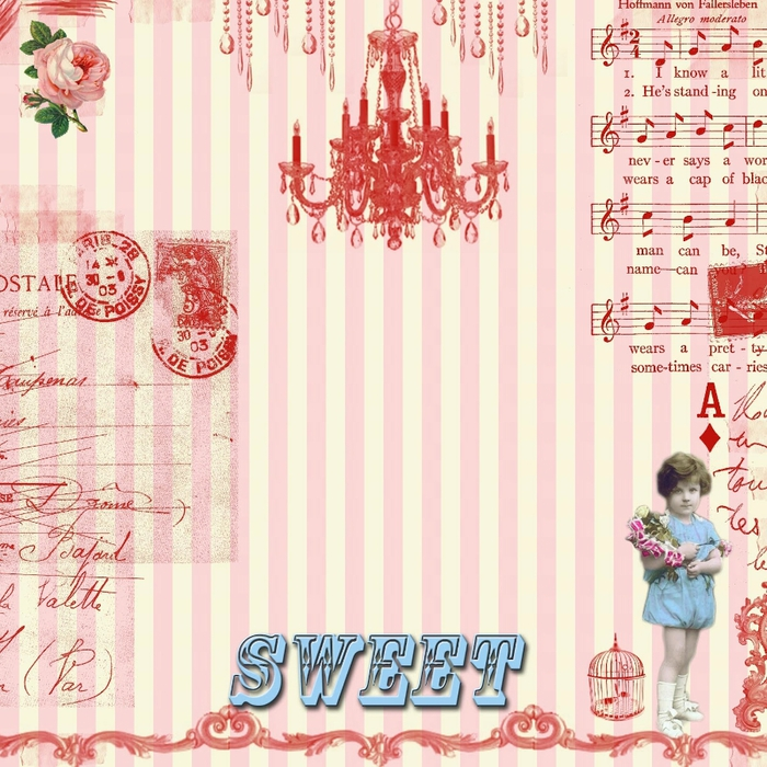 free digital scrapbook paper_sweet pink collage (700x700, 354Kb)