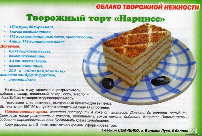 Рецепты тортов с фото и описанием