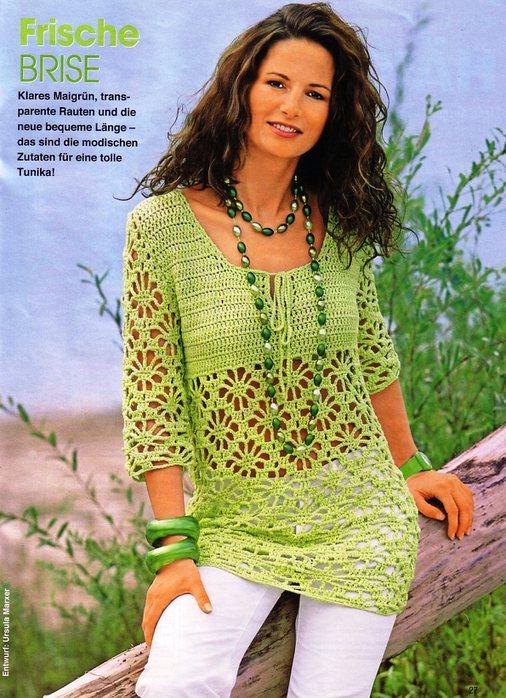 Красивое вязание крючком для женщин на лето