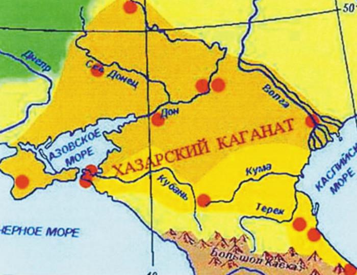 Карта Хазарского Каганата