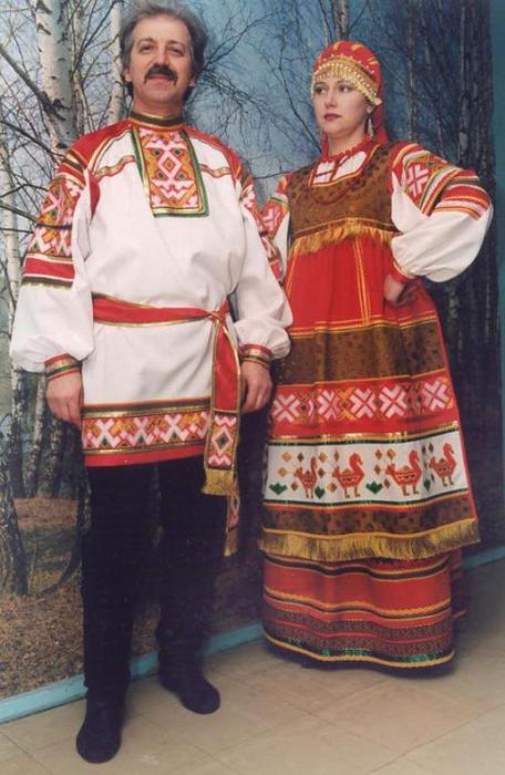 Мужской русский народный костюм женский