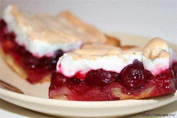 Пирог с вишнями и безе (604x402, 95Kb)