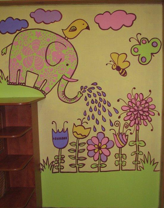 Расписать стену в детской
