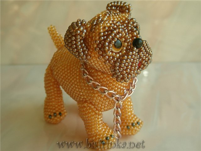 схема плетения собаки из